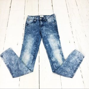 Hudson Acid Wash Denim Skinny Jeans